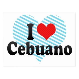 I Love Cebuano Post Card