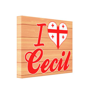 I Love Cecil, Georgia Gallery Wrap Canvas