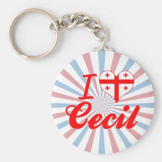 I Love Cecil, Georgia Keychain