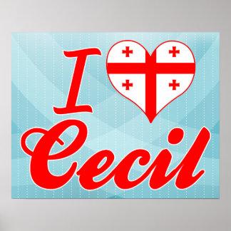 I Love Cecil, Georgia Print