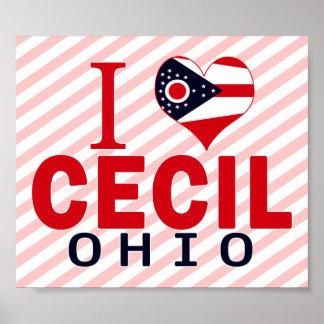 I love Cecil, Ohio Poster