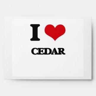I love Cedar Envelope