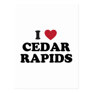 I Love Cedar Rapids Iowa Postcard