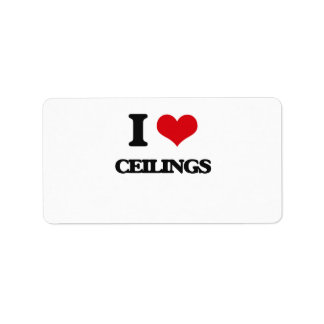 I love Ceilings Personalized Address Label