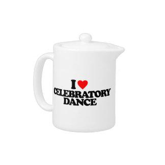 I LOVE CELEBRATORY DANCE TEAPOT