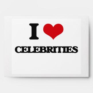 I love Celebrities Envelope