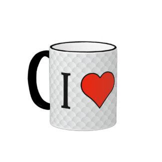 I Love Celebrity Ringer Coffee Mug