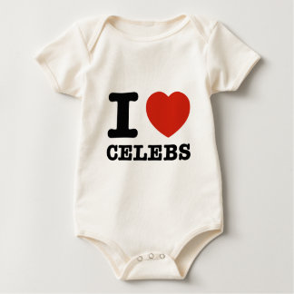 I love Celebs Baby Bodysuit