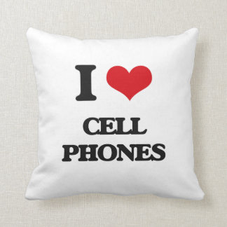 I love Cell Phones Throw Pillows