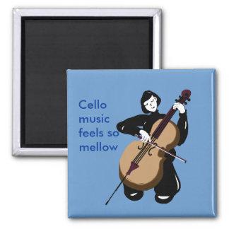 i love cello music 2 inch square magnet