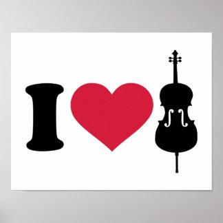 I love Cello Poster