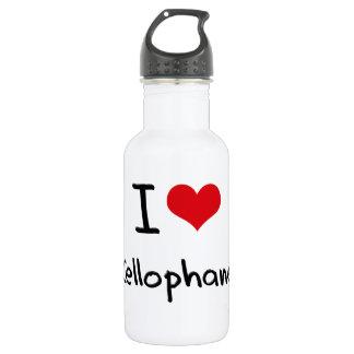 I love Cellophane 18oz Water Bottle