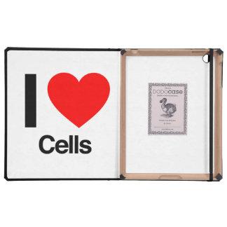 i love cells iPad case