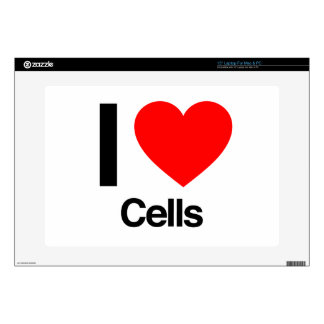 i love cells laptop decals