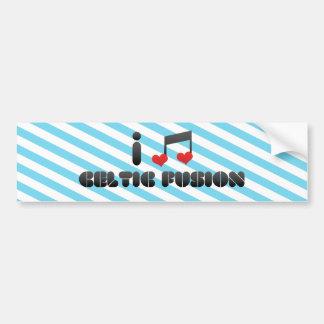 I Love Celtic Fusion Bumper Stickers