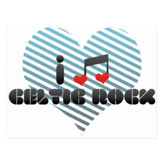I Love Celtic Rock Postcard
