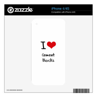 I love Cement Blocks Decals For iPhone 4S