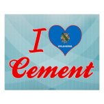 I Love Cement, Oklahoma Posters