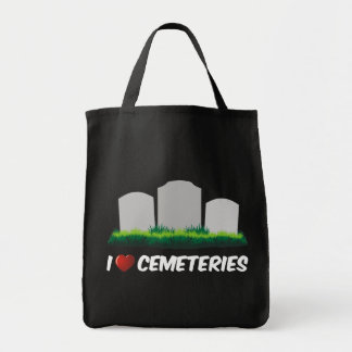 I Love Cemeteries Grocery Tote Bag