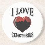 I Love Cemeteries Beverage Coasters