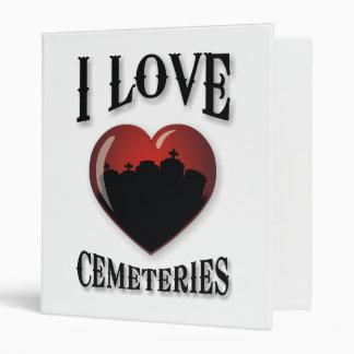 I Love Cemeteries 3 Ring Binders