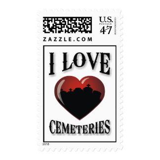 I Love Cemeteries Postage