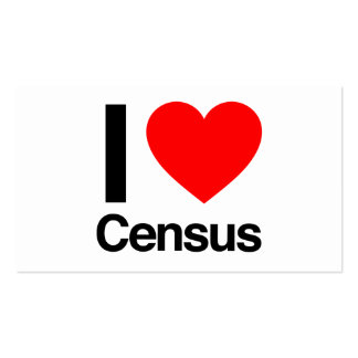 i love census Double-Sided standard business cards (Pack of 100)