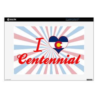 "I Love Centennial, Colorado Decals For 15"" Laptops"
