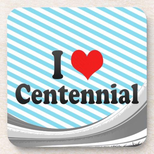 I Love Centennial, United States Drink Coaster