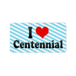 I Love Centennial, United States Personalized Address Labels