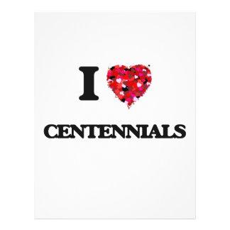 """I love Centennials 8.5"""" X 11"""" Flyer"""
