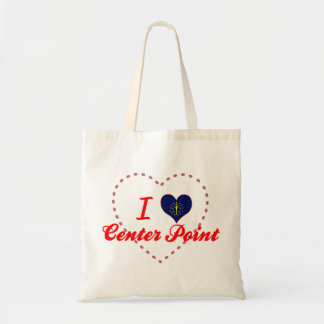 I Love Center Point Indiana Canvas Bags
