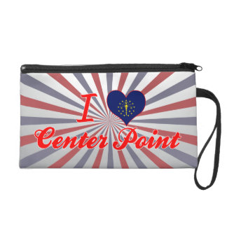 I Love Center Point Indiana Wristlet Clutch