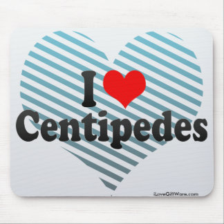 I Love Centipedes Mouse Pad