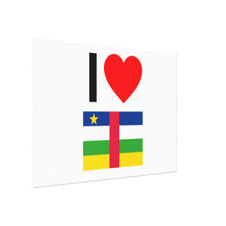 i love central african republic canvas print