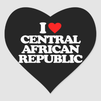 I LOVE CENTRAL AFRICAN REPUBLIC HEART STICKER