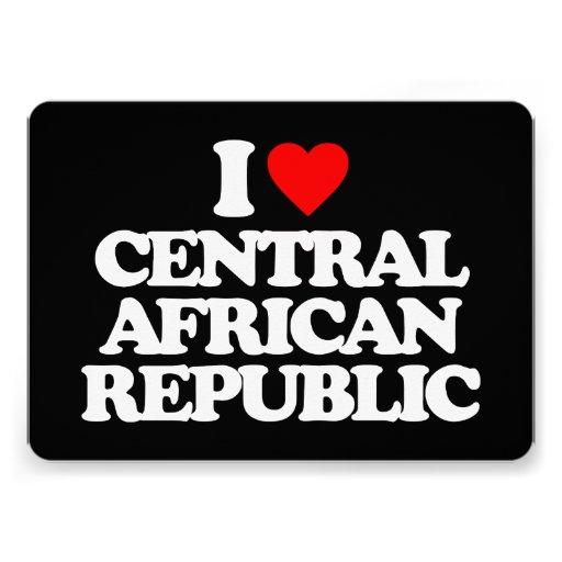 I LOVE CENTRAL AFRICAN REPUBLIC PERSONALIZED INVITE