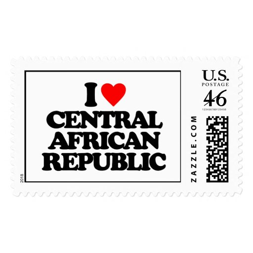 I LOVE CENTRAL AFRICAN REPUBLIC POSTAGE STAMP