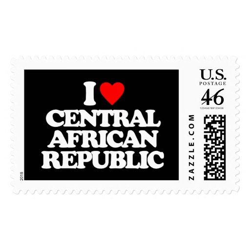 I LOVE CENTRAL AFRICAN REPUBLIC STAMPS
