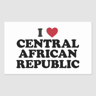 I Love Central African Republic Rectangular Sticker