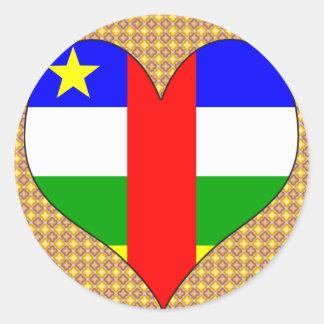 I Love Central African Republic Round Sticker