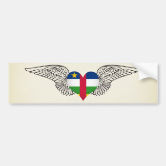 I Love Central African Republic -wings Bumper Sticker