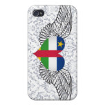 I Love Central African Republic -wings iPhone 4/4S Case