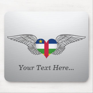 I Love Central African Republic -wings Mouse Pad