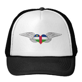 I Love Central African Republic -wings Trucker Hat