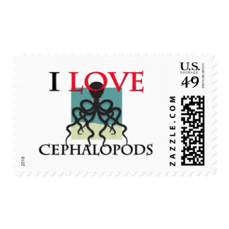 I Love Cephalopods Postage