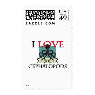I Love Cephalopods Postage Stamps