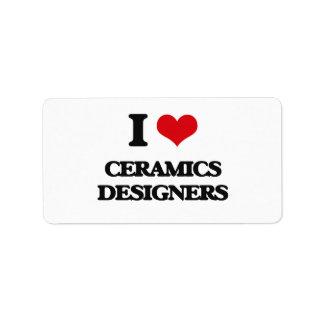 I love Ceramics Designers Personalized Address Labels