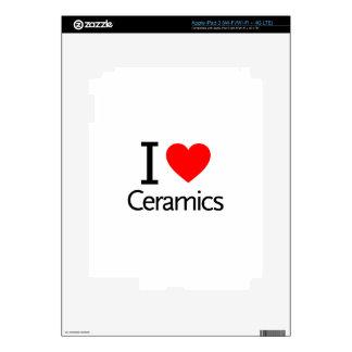I Love Ceramics Skins For iPad 3