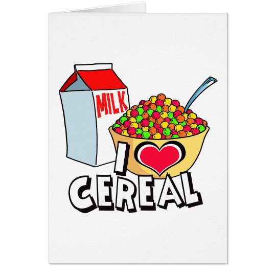 I LOVE CEREAL CARD